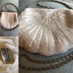 Vintage Shell Beaded Purse/Clutch- La Regale